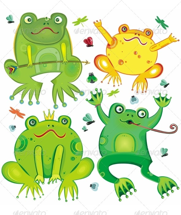 Cute frogs set - Animals Characters