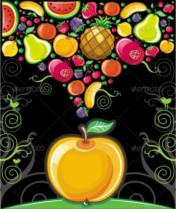 Big apple (fruity series) - Food Objects