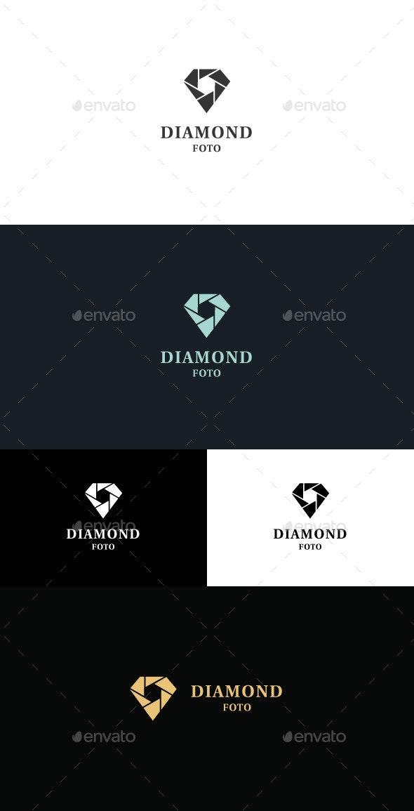 Diamond Foto Logo - Vector Abstract