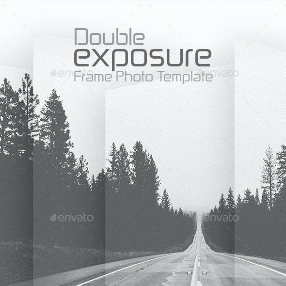 Double Exposure Frame Photo Template