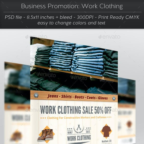 Business Promotion: Work Clothing