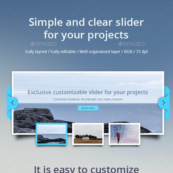 Multipurpose Clear Slider