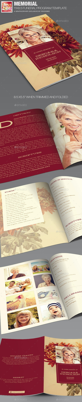 Memorial Funeral Program Template - Informational Brochures