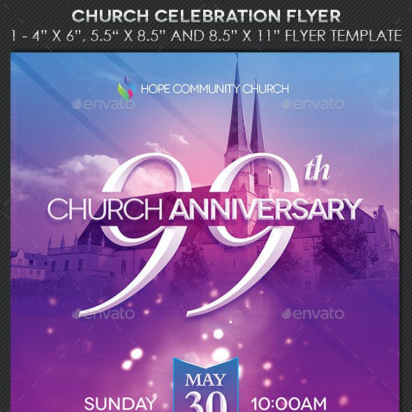 Church Celebration Flyer Template