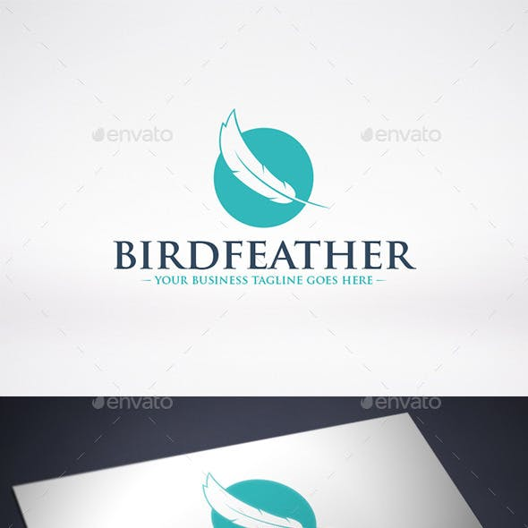 Bird Feather Logo Template