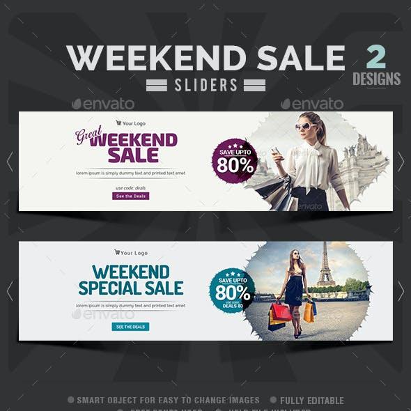 Weekend Sale Sliders - 2 Designs