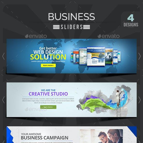 Business Sliders - 4 Designs