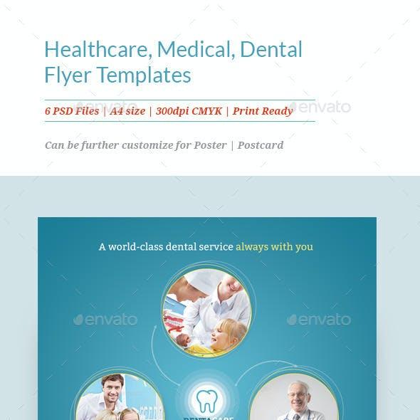 Healthcare, Medical, Dental Flyer Templates