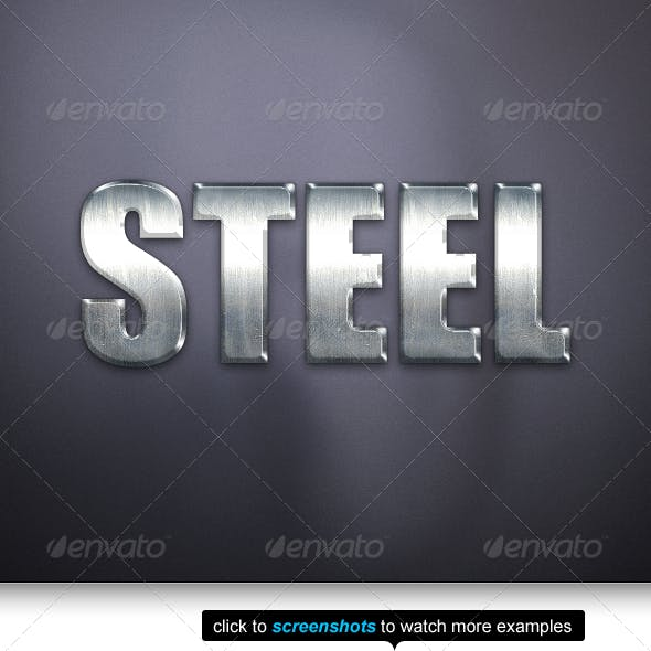 The Best Steel Text Effects & Styles