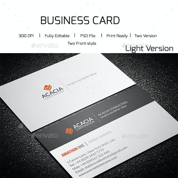 Simple Consultancy Business Card