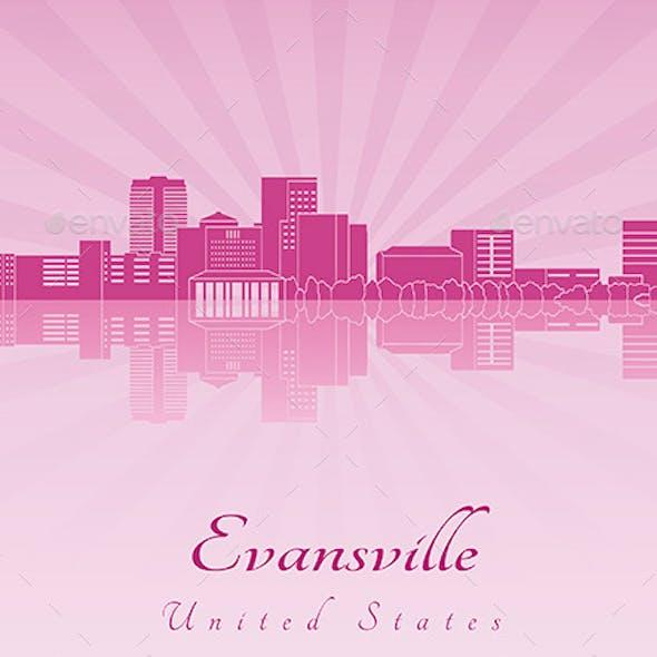 Evansville Skyline in Purple Radiant Orchid
