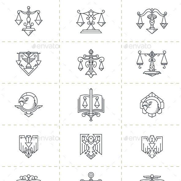 Justice Symbols Set