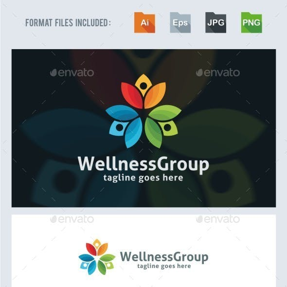 Wellness Group Logo Template