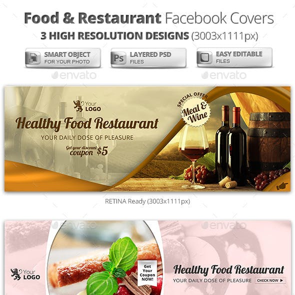Food & Restaurant Campaign Facebook Covers