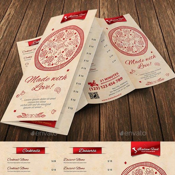 Italian Restaurant Food Menu 02