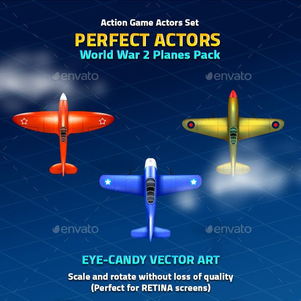 Perfect Actors World War 2 Planes Pack