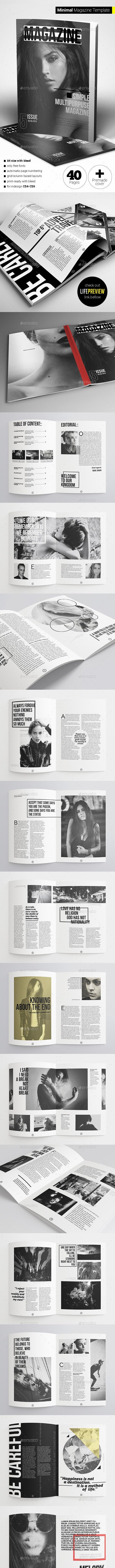 40 Pages Minimal Magazine - Magazines Print Templates