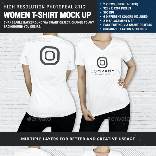 Women Multipurpose Tshirt Mock Up
