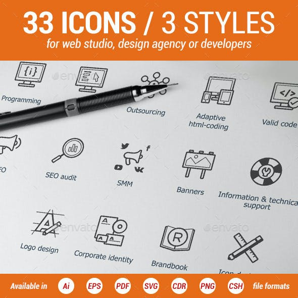 Web-Development Icons Set