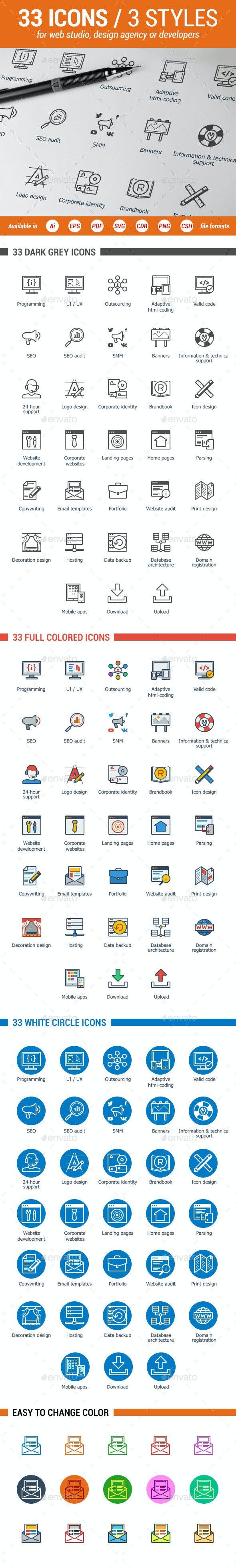 Web-Development Icons Set - Web Icons