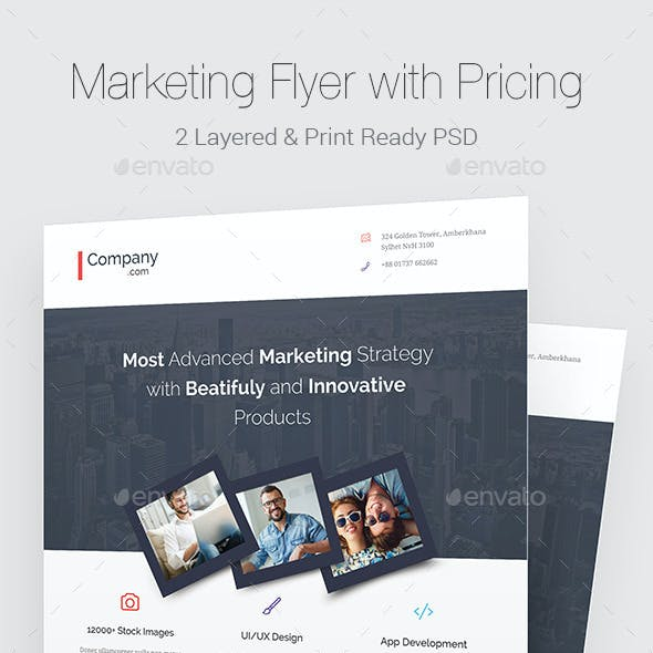 Marketing Flyer with Pricing Table