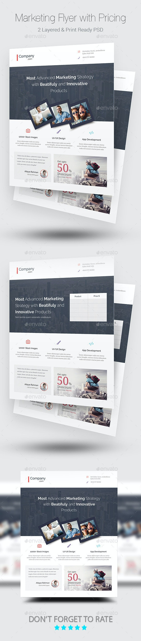 Marketing Flyer with Pricing Table - Corporate Flyers