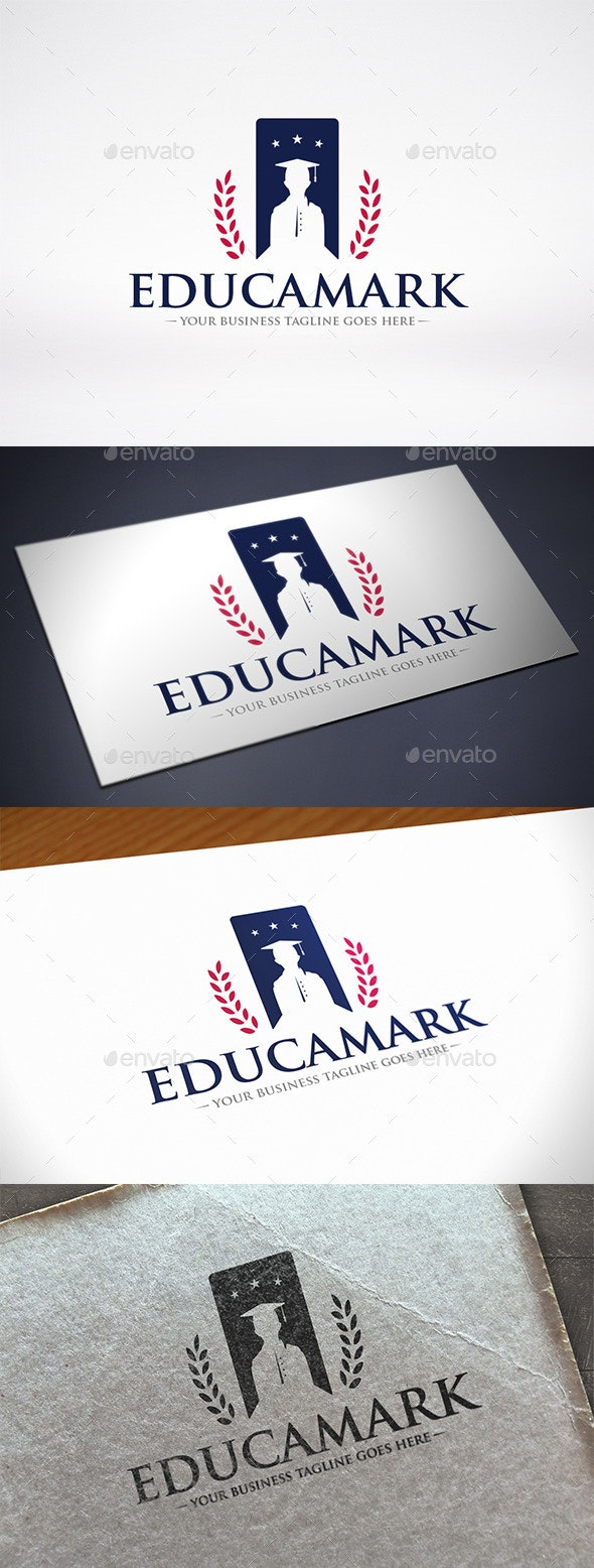 Education Bookmark Logo Template - College Logo Templates