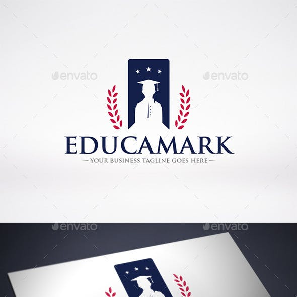 Education Bookmark Logo Template