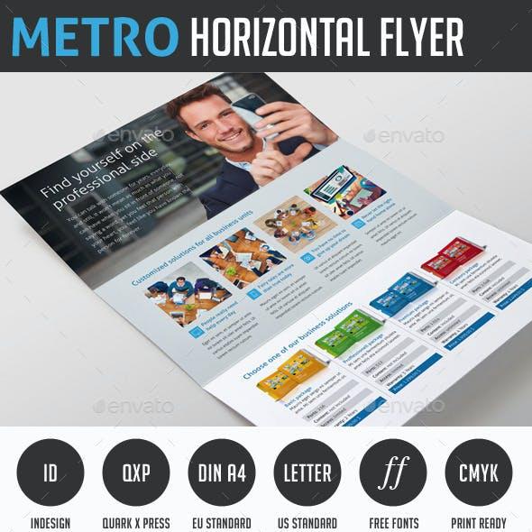 Metro Horizontal Tri-fold