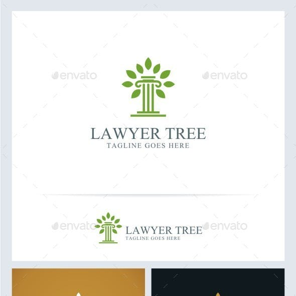 Lawyer Tree Logo Template