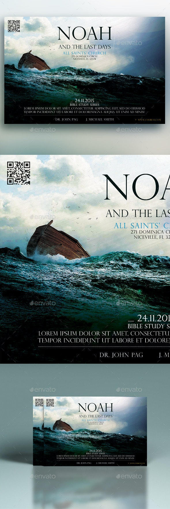 Noah And The Last Days - Church Flyers