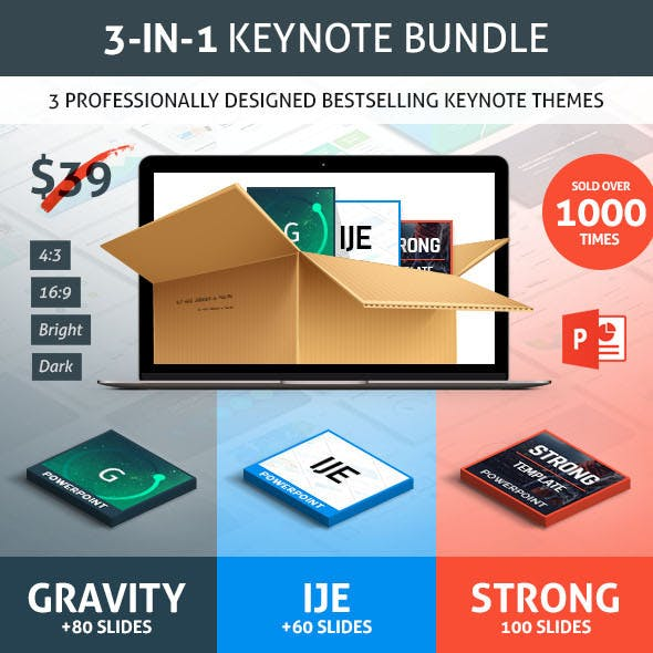 Bestsellers Keynote Presentation Bundle
