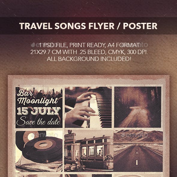 Travel Songs Flyer Poster