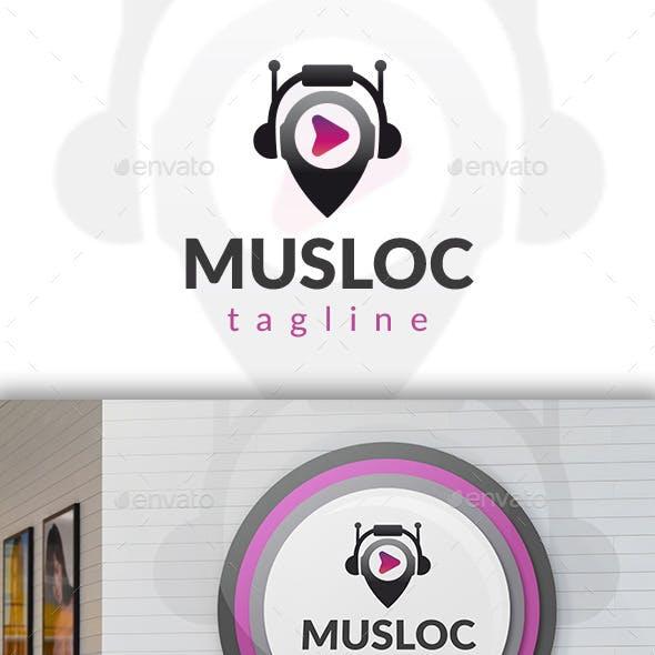 Music Locator Logo Template
