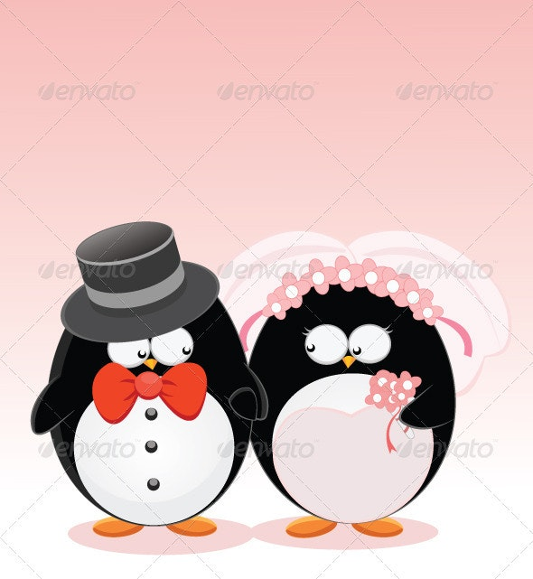 Wedding Penguins - Characters Vectors