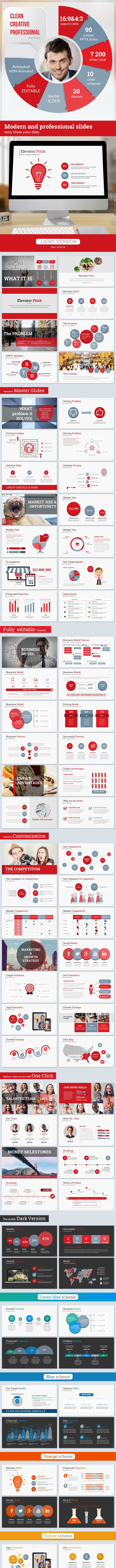 Startup Pitch Deck Leader-Up Presentation Template - Pitch Deck PowerPoint Templates