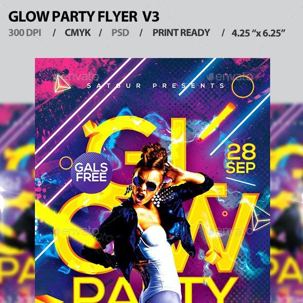 Glow Party Flyer V3