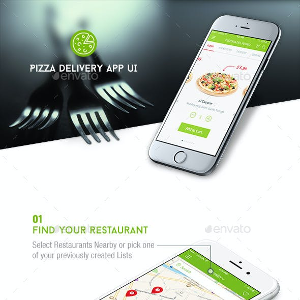 Pizza/Food Delivery UI
