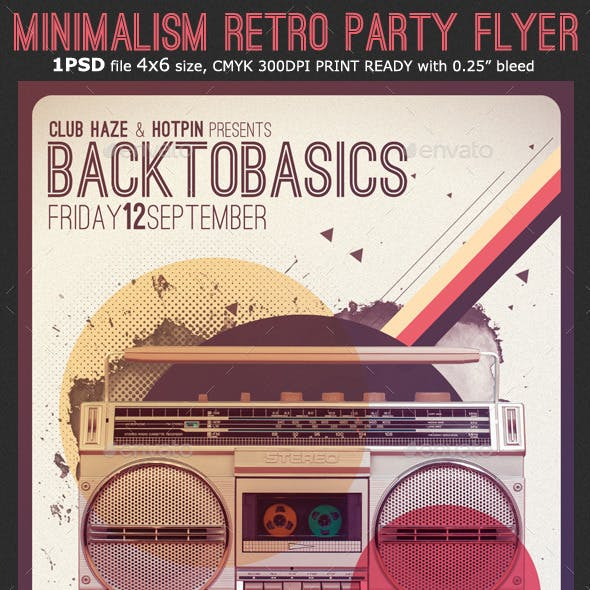 Minimalism Retro Party Flyer Template