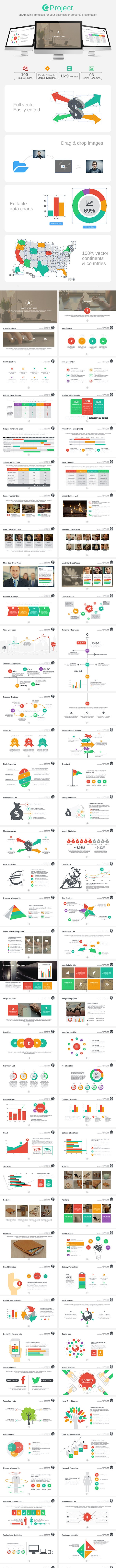 GProject PowerPoint Template - Business PowerPoint Templates