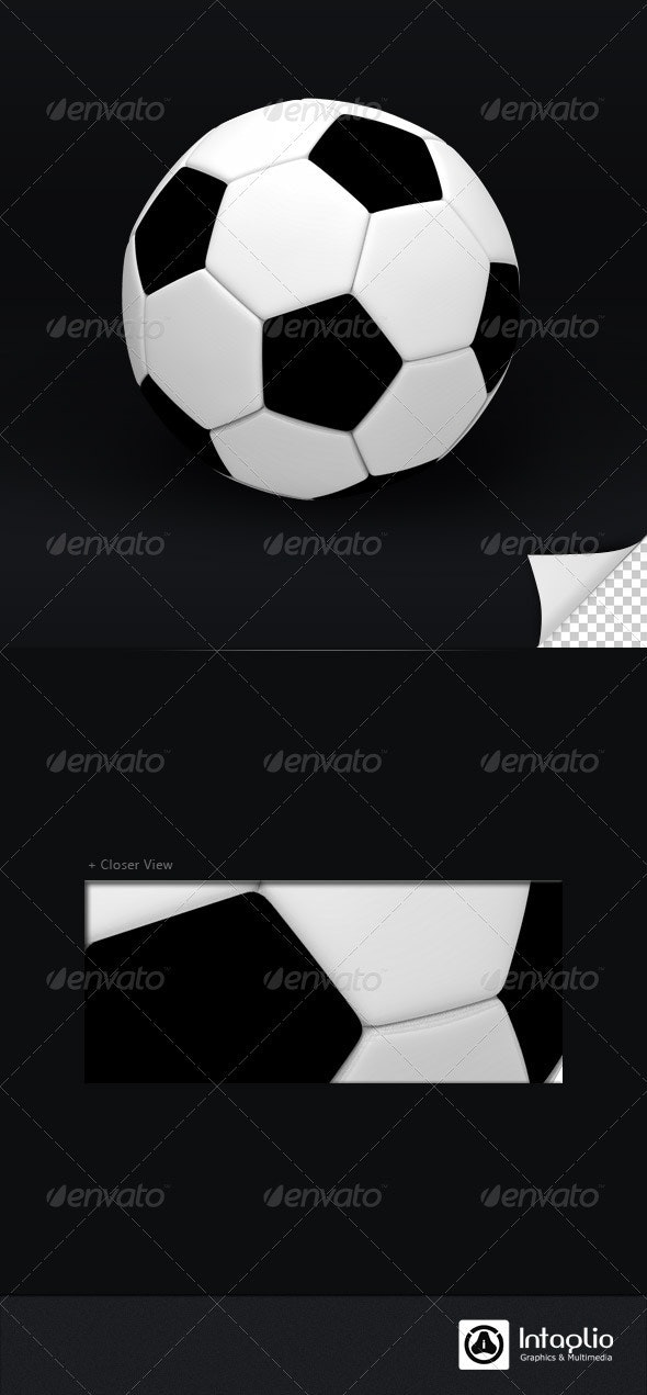 Foot Ball 3D Render - Objects 3D Renders