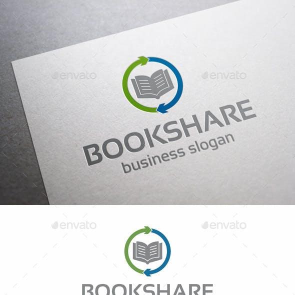 Book Share Logo Template