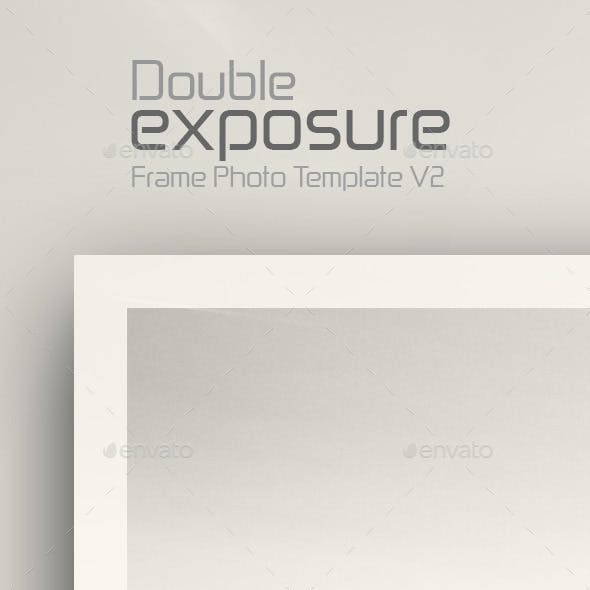 Double Exposure Frame Photo  Template v2