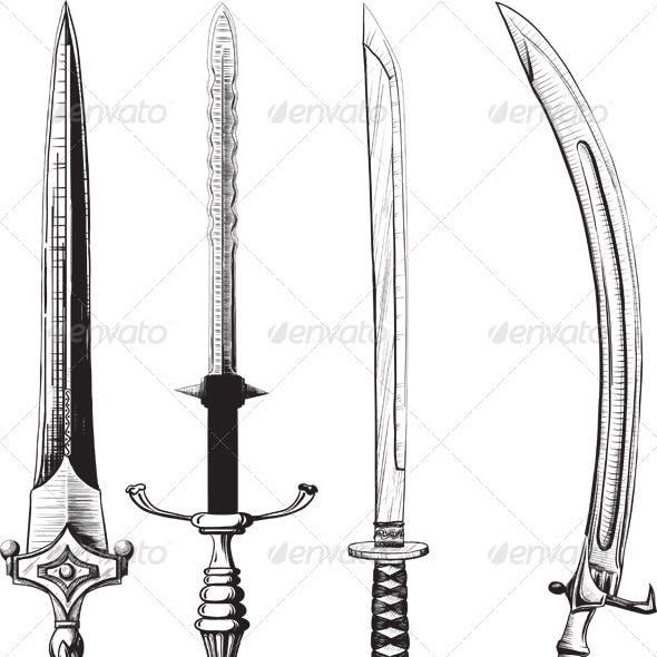 Different set of swords