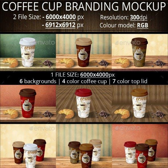 Two Coffee Cup Branding Mockup