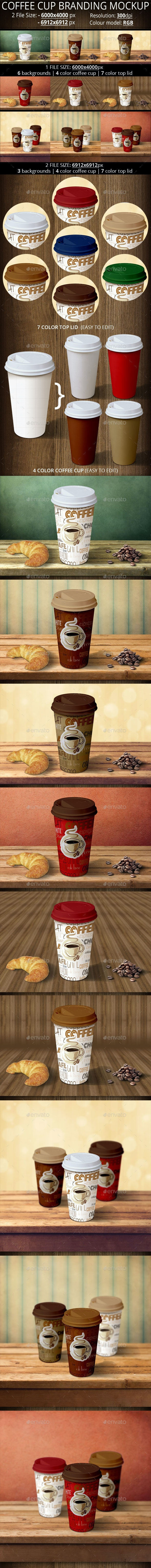 Two Coffee Cup Branding Mockup - Food and Drink Packaging