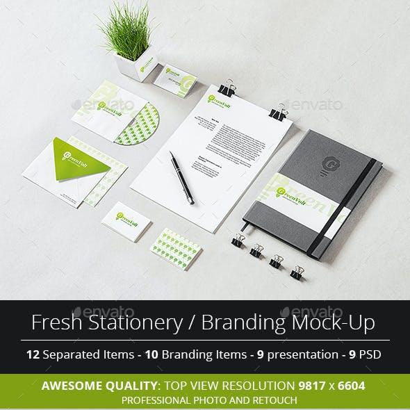 Fresh Stationery / Branding Mock-Up