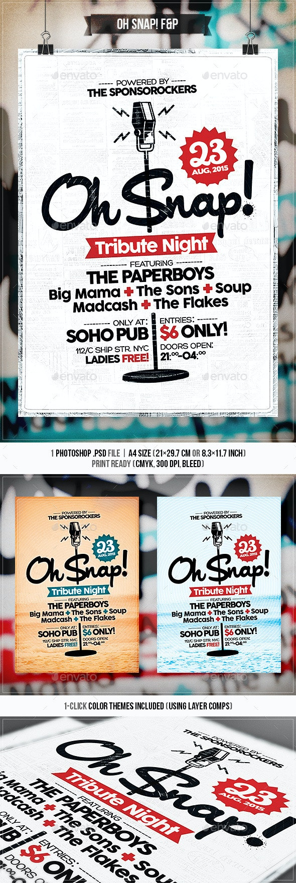 Oh Snap - Flyer & Poster - Concerts Events
