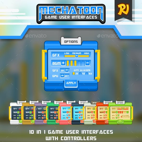 Mechatoon Game UI by isometric | GraphicRiver