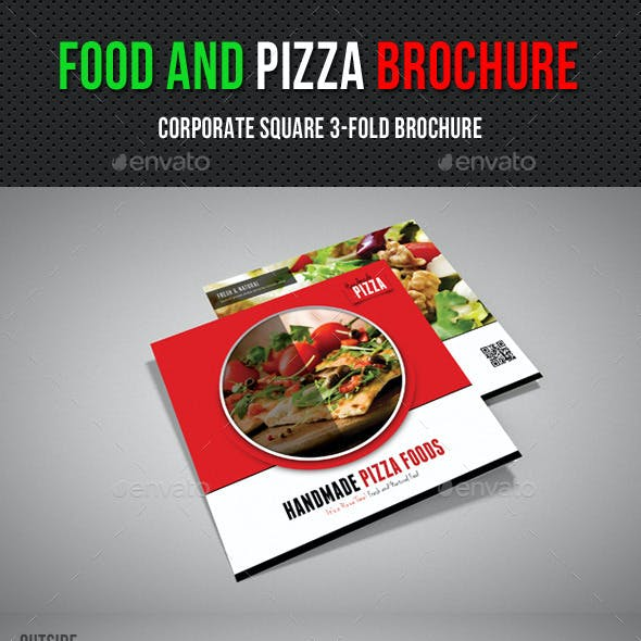 Food And Pizza Square 3-Fold Brochure 01